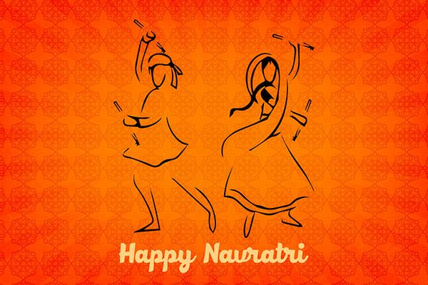 Happy Navratri infographics made with Adobe Illustrator and Adobe Photoshop.Happy Navratri! :)
