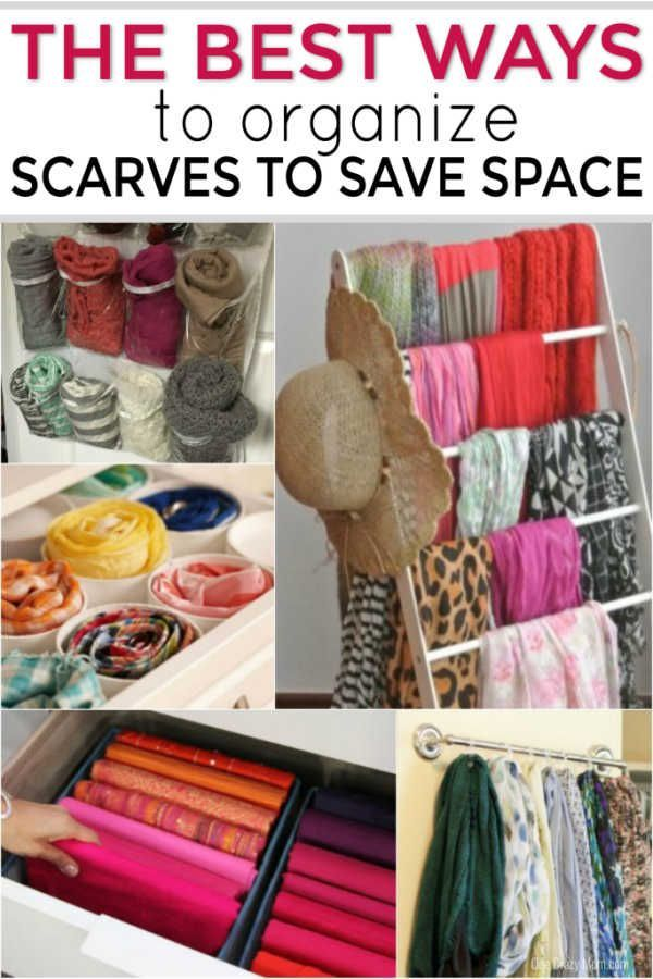 Ways To Organize Scarves Creative Ways To Organize Scarves