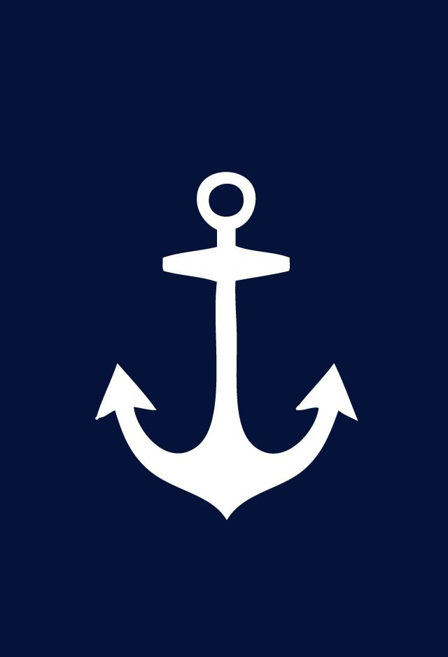 white anchor on navy