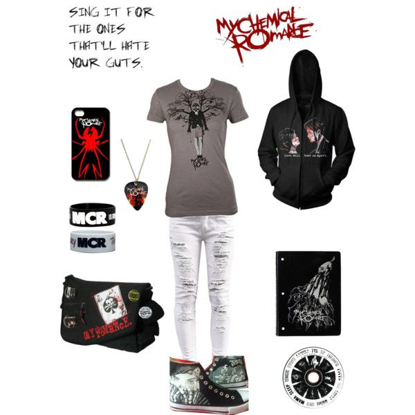 """""""I can't even explain my LOVE for My Chemical Romance. There just.... I can't explain. They in my opinion are (where T-T) the most amazing modern-rock band ever."""" by xxmcrmy4everxx on Polyvore"""