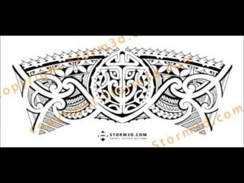 how to draw a polynesian tattoo