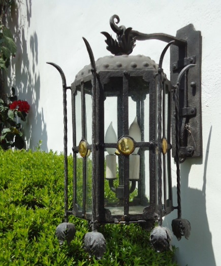 10 best wrought iron outdoor lanterns images on pinterest wrought wrought iron outdoor lanterns by fairenotions see more fantastic workmanship mozeypictures Images