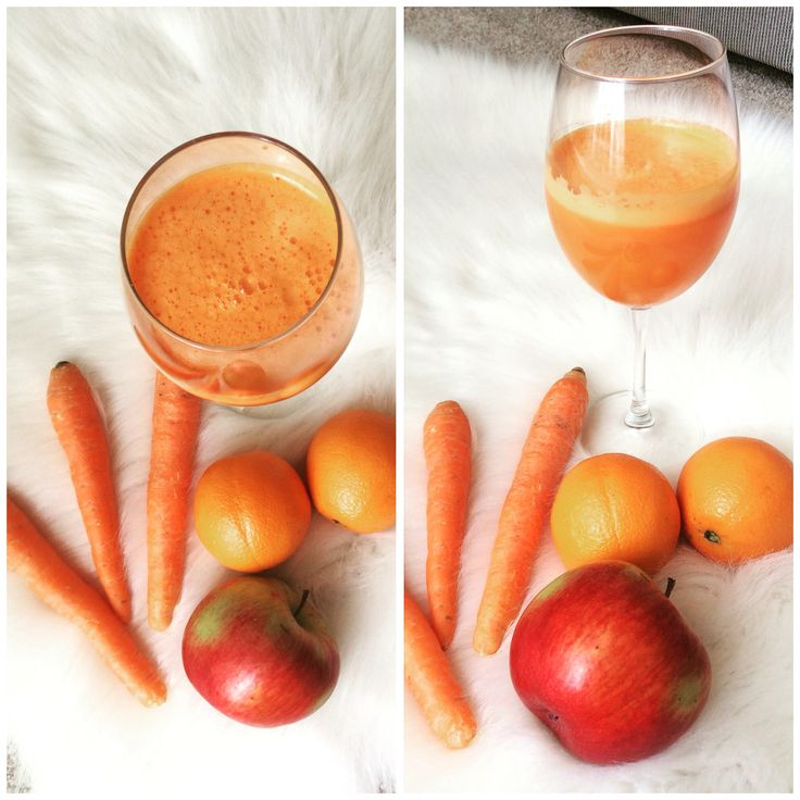 Juice - carrots,apple and orange.Energy boost