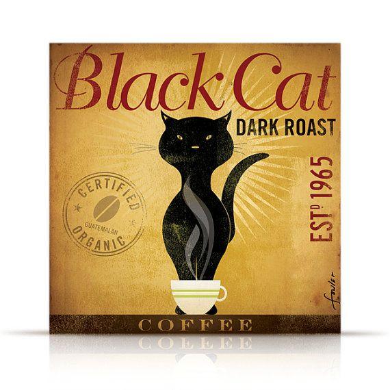 Black Cat Dark Roast Coffee by stephen fowler