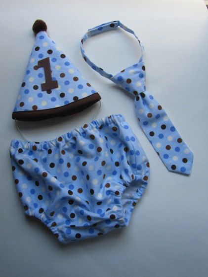 Outfit for First Birthday Party Photos or Cake Smash  by Seams2u, $36.00