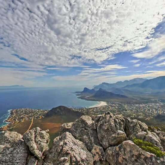 Pringle Bay from the top of Hangklip   Cape   SA