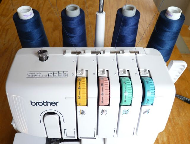 A quicker way to change serger thread....I have been told how to do this a million times but I never remember to actually do it!