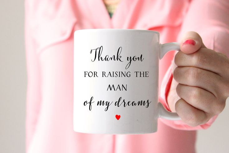 Man of my Dreams Coffee Mug, Wedding Gift for Mother of the Groom