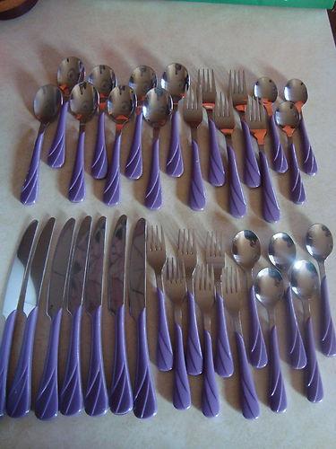 Set of Lilac Fiesta flatware on eBay. Sweet!