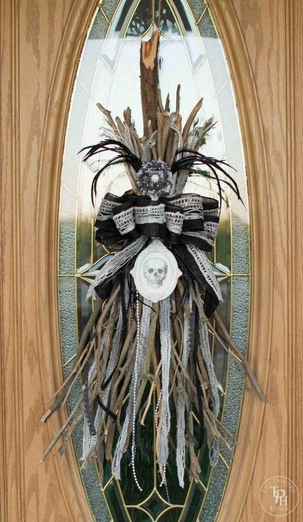 Halloween Broken Witch Broom Swag Tutorial