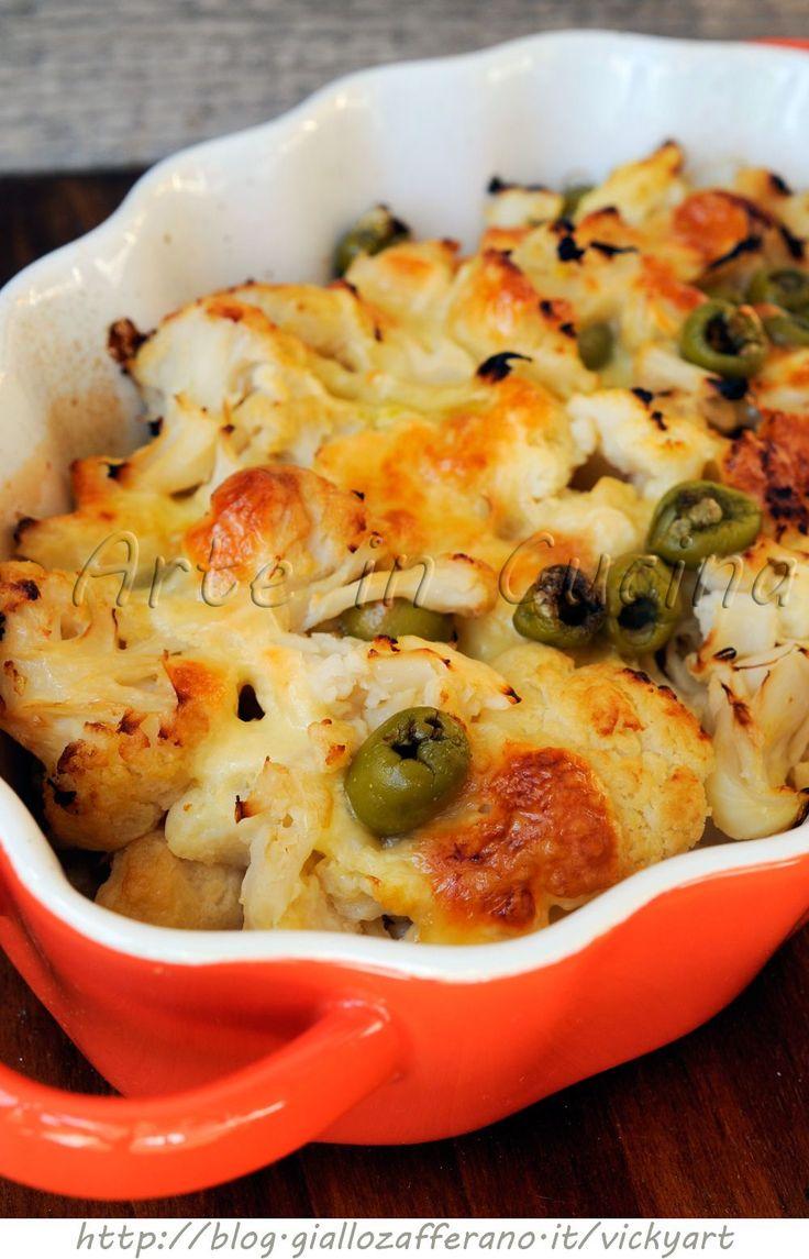 Cavolfiore con mozzarella e gorgonzola al forno
