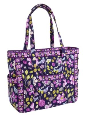 Get Carried Away Tote | Vera Bradley in Floral Nightingale... Trying to decide on a new tote for when I get a new job!!