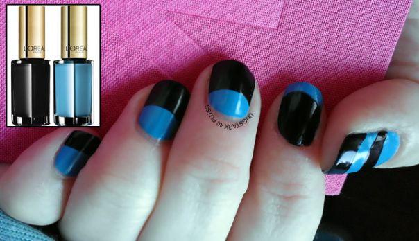 Nailart - black & blue