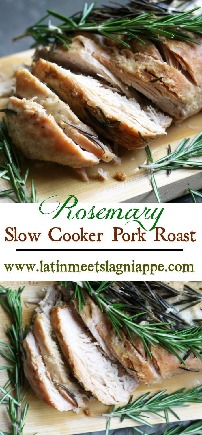This savory and delicious Rosemary Slow Cooker Pork Roast simmers all day for a perfect fall dinner.
