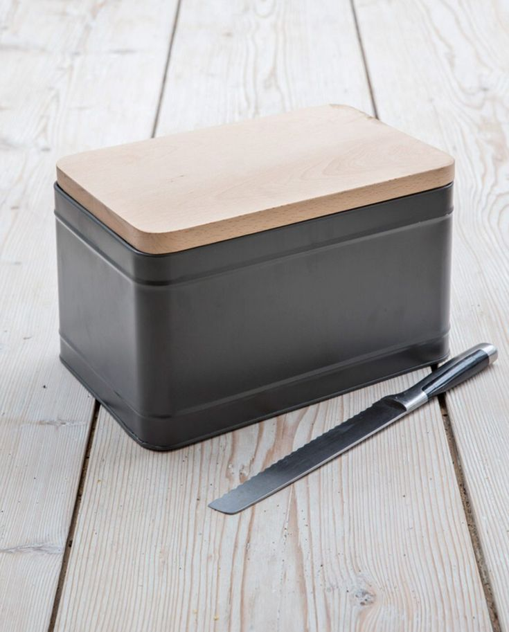 With clean lines and a bold finish in our Charcoal colour, our Borough Bread Box is a contemporary update ...