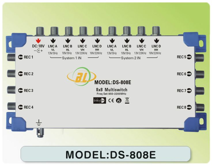 Satellite TV switch DS-808E and 8 TV programs assigned to 8 users watch - http://nk-reviews.com/products/satellite-tv-switch-ds-808e-and-8-tv-programs-assigned-to-8-users-watch/
