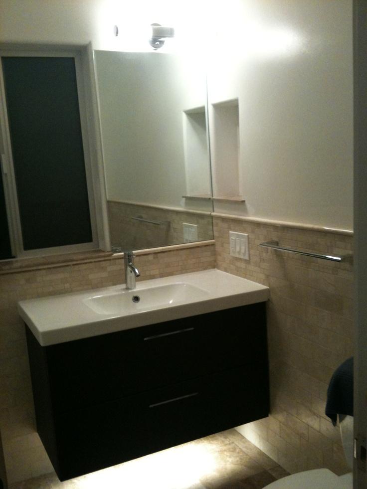 IKEA floating vanity. Floating bathroom
