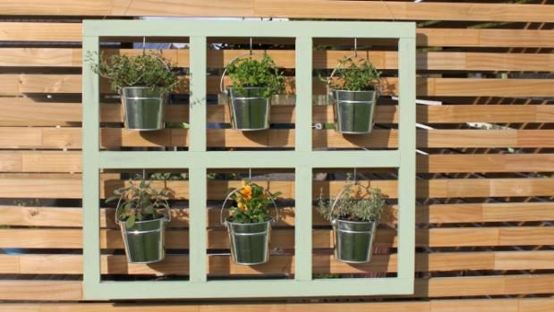 Make your own picture frame planter    Perfect for renters or apartment dwellers, this hanging planter can be used to grow your favourite herbs and flowering plants.