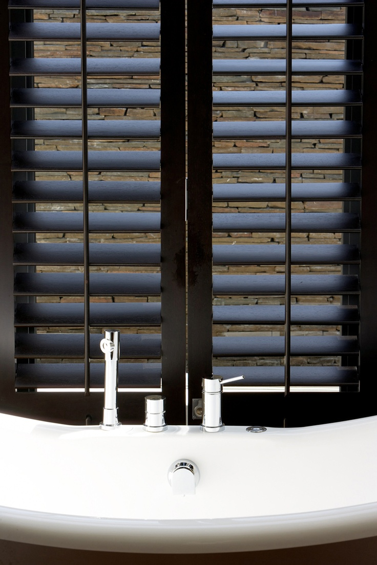 Plantation shutters in brown inspiration for my new home - Discount interior plantation shutters ...