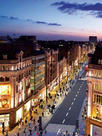 Oxford Street Londen Engeland 22 september 2002
