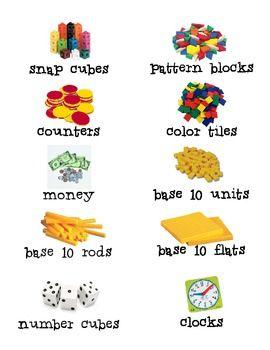 Envision Math Labels