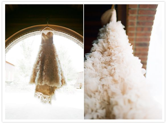 Ruffles on ruffles on ruffles! Beautiful Anna Be wedding dress.