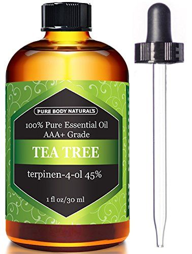Tea Tree Oil, Highest Quality Triple AAA+ Grade Tea Tree Essential Oil, 45% terpenin-4-ol (Australia) 100% Pure and Authentic, 1 fl. Oz - Pure Body Naturals (1 oz)