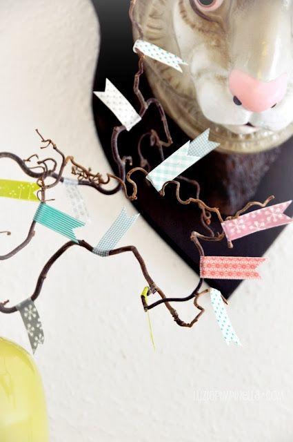 masking tape easter decoration