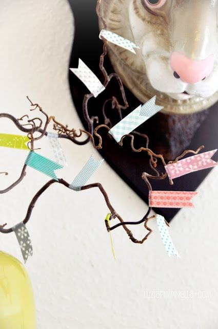 masking tape easter decoration