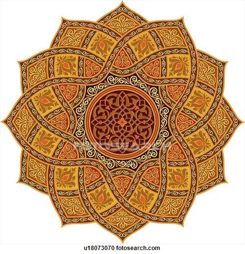 star shaped floral pattern Arabesque Design