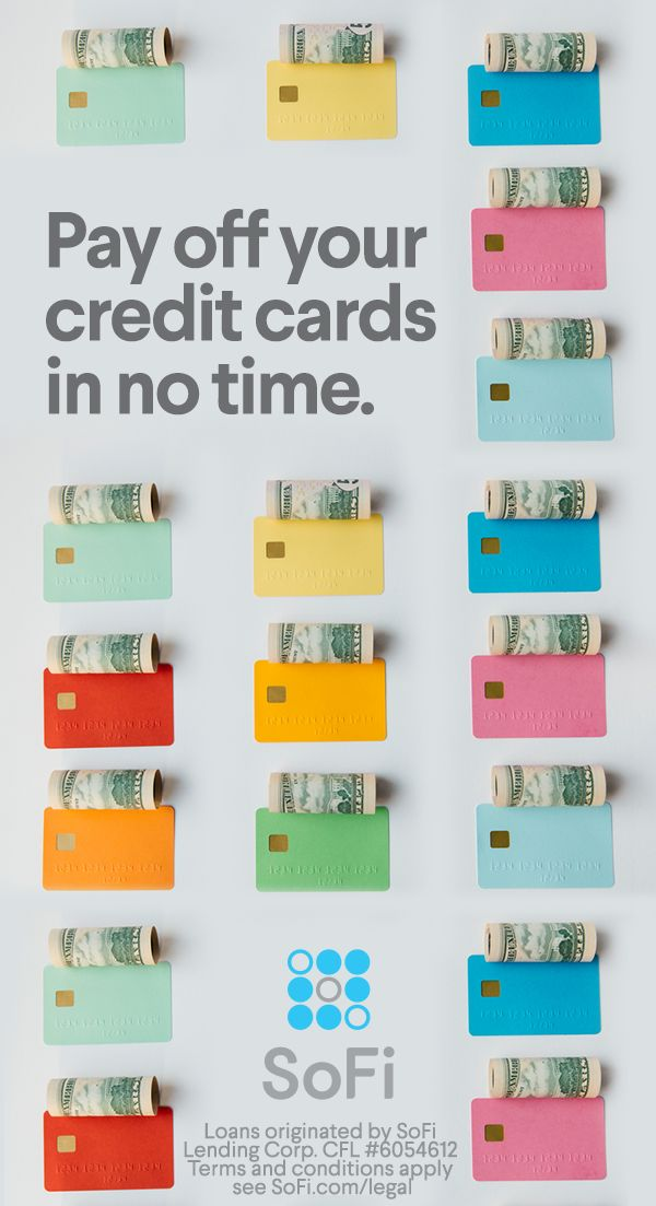 Are you paying more than 10% interest on your credit cards? SoFi Personal Loans could helpyou save thousands. With low personal loan interest rates, you can pay off credit cards, high-interest debt, or a major purchase. Plus, it only takes 2 minutes to find your rate. Learn more at SoFi.com today.