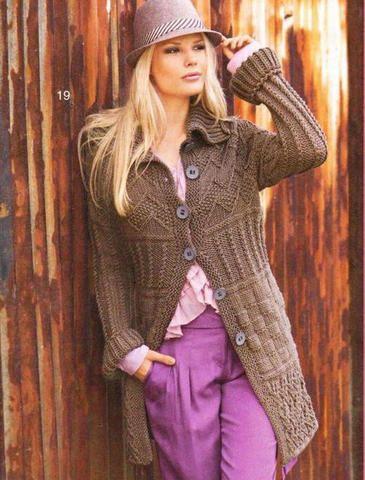 Короткое пальто   Вязание и рукоделие
