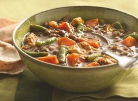 Sweet Potato, Lentil, and Chicken Soup (although I'd make lentil soup ...