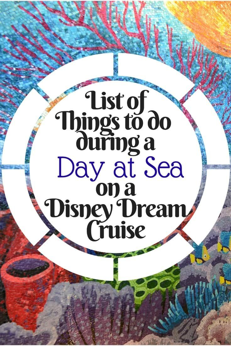Here is a list of things you can look forward to doing during your day at sea on a Disney Dream Cruise. via @disneyinsider