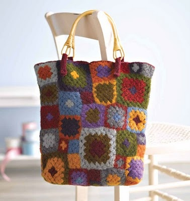 Crochet Granny Square Hobo Bag Pattern : 17 Best images about Felted Crochet Bags on Pinterest ...