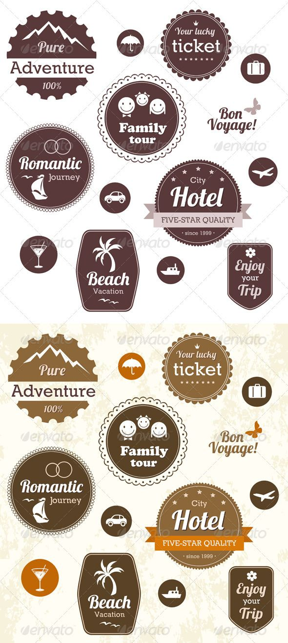 Travel And Vacation Emblems Set  #GraphicRiver         Travel and vacation labels, badges and emblems. Editable vector set. EPS 10. Fonts used: Providence, Cooper Black, Lobster 1.4 – free download from  .impallari /lobster/  	            Created: 26July12 GraphicsFilesIncluded: VectorEPS Layered: No MinimumAdobeCSVersion: CS Tags: adventure #badge #banner #beach #border #car #cruise #decorative #designelement #emblems #graphic #holiday #hotel #icon #isolated #journey #label #retro #ribbon…