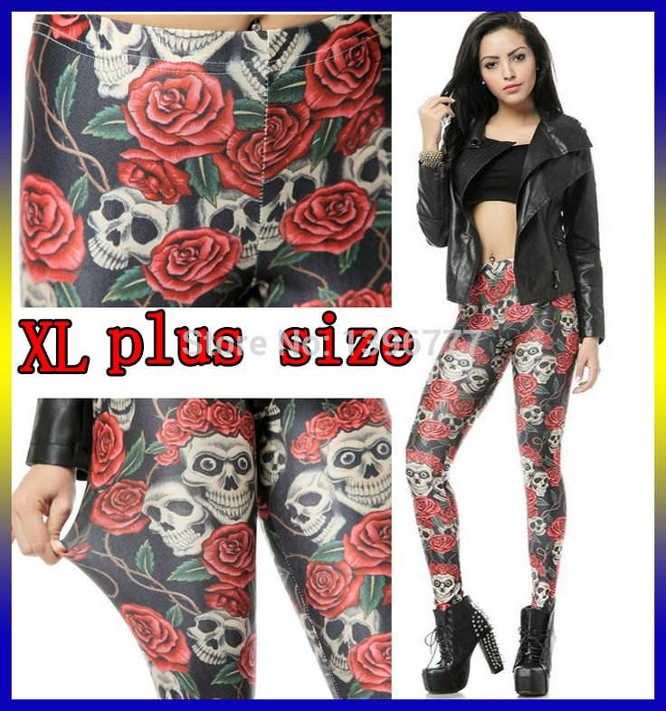 Find More Leggings Information about plus size XL 2015 women Galaxy Leggings knitted spandex printed Skull sport fitness 3D digital print pencil Pants punk slim gril,High Quality silk,China knit tie silk Suppliers, Cheap knitted silk from DFH International Knitting Co., Ltd.