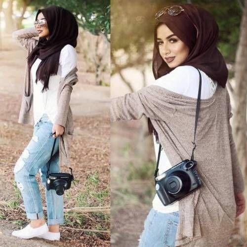 How to wear boyfriend jeans with hijab – Just Trendy Girls
