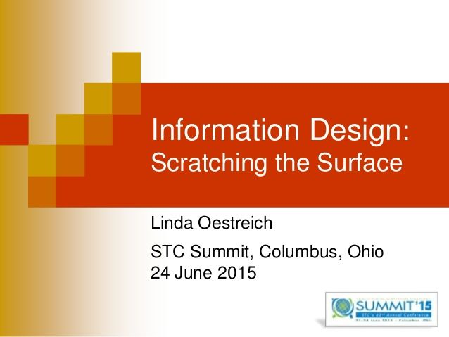Information Design for Technical Communicators: Scratching the Surface