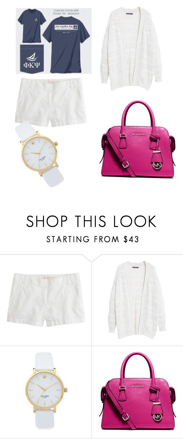 """""""Friday school outfit"""" by party4purpose69 ❤ liked on Polyvore featuring J.Crew, Violeta by Mango, Kate Spade and MICHAEL Michael Kors"""