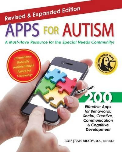 Apps for Autism - Revised and Expanded: An Essential Guide to Over 200 Effective Apps! by Lois Jean Brady MA  CCC-SLP http://www.amazon.com/dp/1941765009/ref=cm_sw_r_pi_dp_rp-vvb0TX4JTX