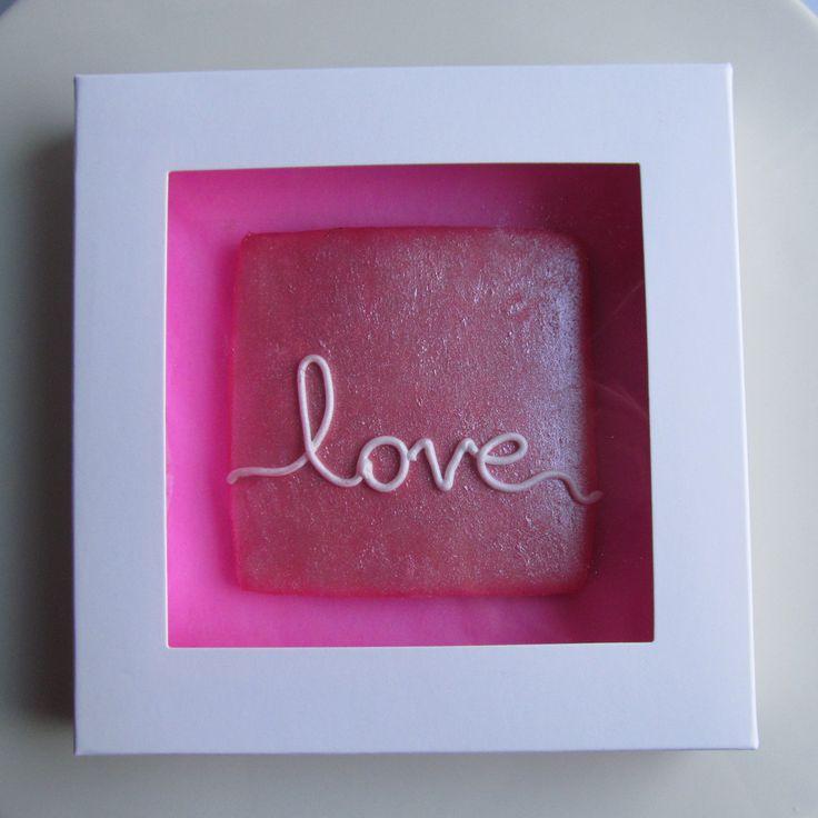 Pink love cookie valentine