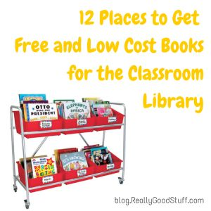 12 Places to Get Free and Low Cost Books for the Classroom Library http://blog.reallygoodstuff.com/12-places-to-get-free-and-low-cost-books-for-the-classroom/?utm_source=Teachers%27+Lounge+Blog+Digestutm_campaign=dc805ff71f-RSS_EMAIL_CAMPAIGNutm_medium=emailutm_term=0_2bbb996e8f-dc805ff71f-87137077