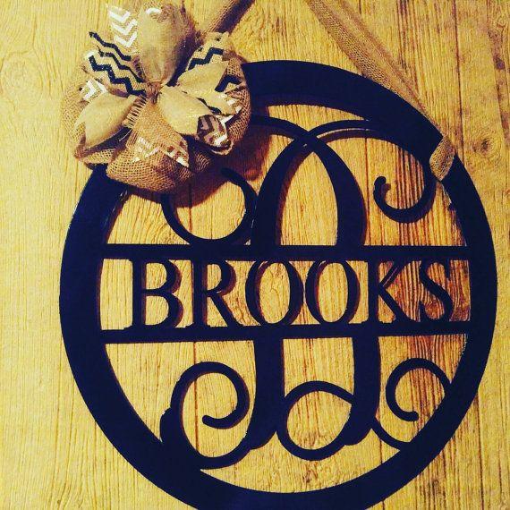 25 Best Ideas About Monogram Door Hangers On Pinterest Initial Decor Dorm Door Signs And
