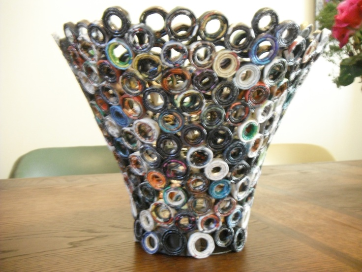 how to make a recycled magazine bowl