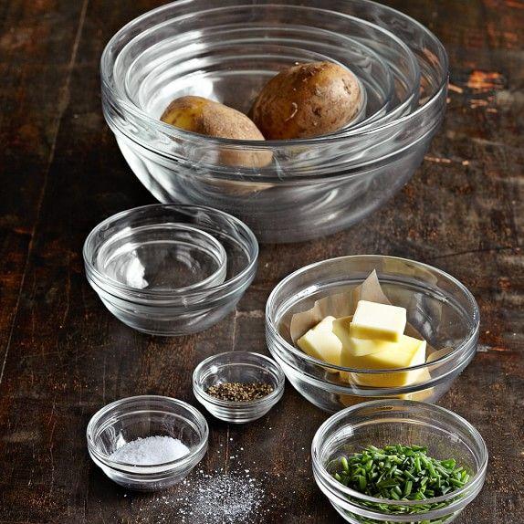 10-Piece Glass Bowl Set | Williams-Sonoma $40