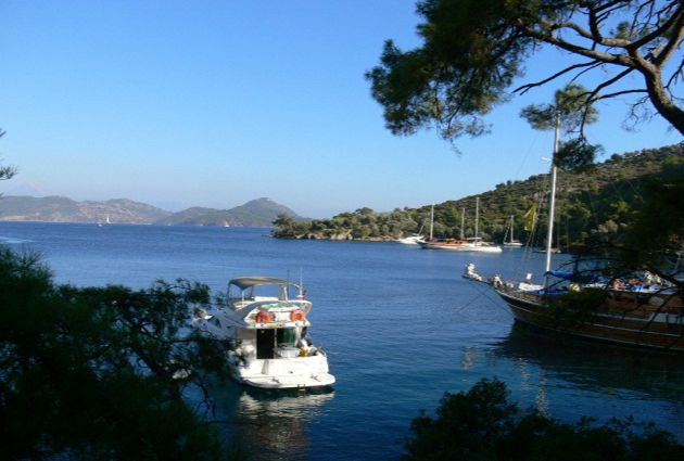 Day 7: KUMLUBUKU - CENNET ISLAND - MARMARIS Today, we will cruise to Kumlubuk Bay early in the morning. Breakfast will be served in Kumlubuk Bay. We will anchor at Cennet Island for our last swimming break and lunch. We will enter Marmaris Harbour by 16:00 an overnight stay will be in Marmaris. Guests wishing to see more of Marmaris are recommended to go to the city centre and experience the lively night life.