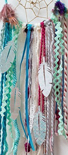 Amazon.com: Aqua Blue DIY Dream Catcher Craft Kit. The Perfect Do It Yourself Birthday Gift for the Crafty Bohemian. Hang In Your Baby Boy's Nursery Room. Make Your Own Dreamcatcher Project.: Handmade
