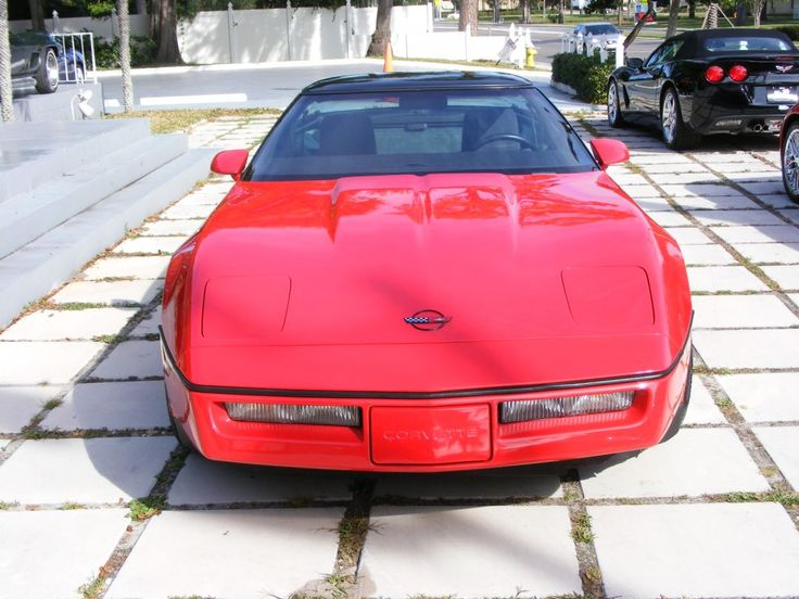 1985 corvette coupe bright red with graphite interior car and driver magazine in the january. Black Bedroom Furniture Sets. Home Design Ideas