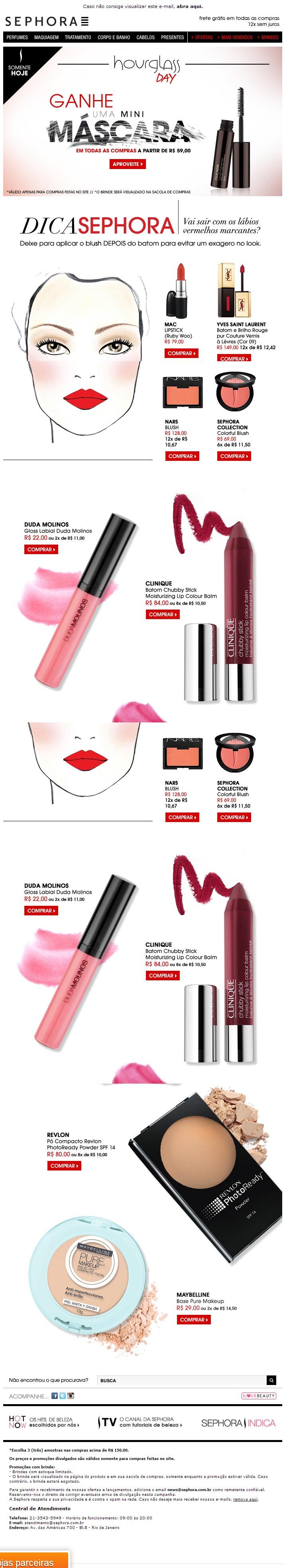 E-mail Marketing: Categoria Beleza | Sephora